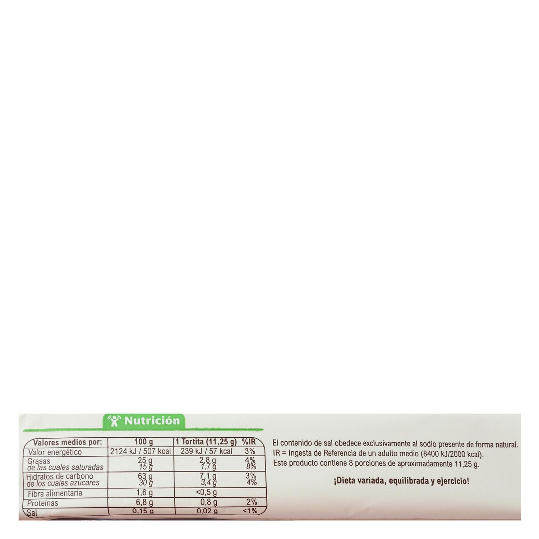 Tortitas de arroz con chocolate blanco ecológicas Carrefour Bio sin gluten Bio 90 g. - 2