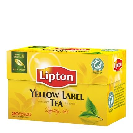 Té Yellow Label en bolsitas Lipton 20 ud.