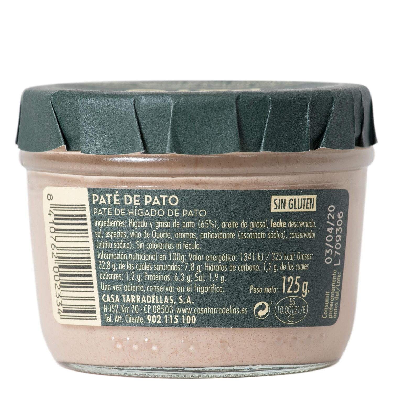 Paté de pato Casa Tarradellas 125 g. - 2