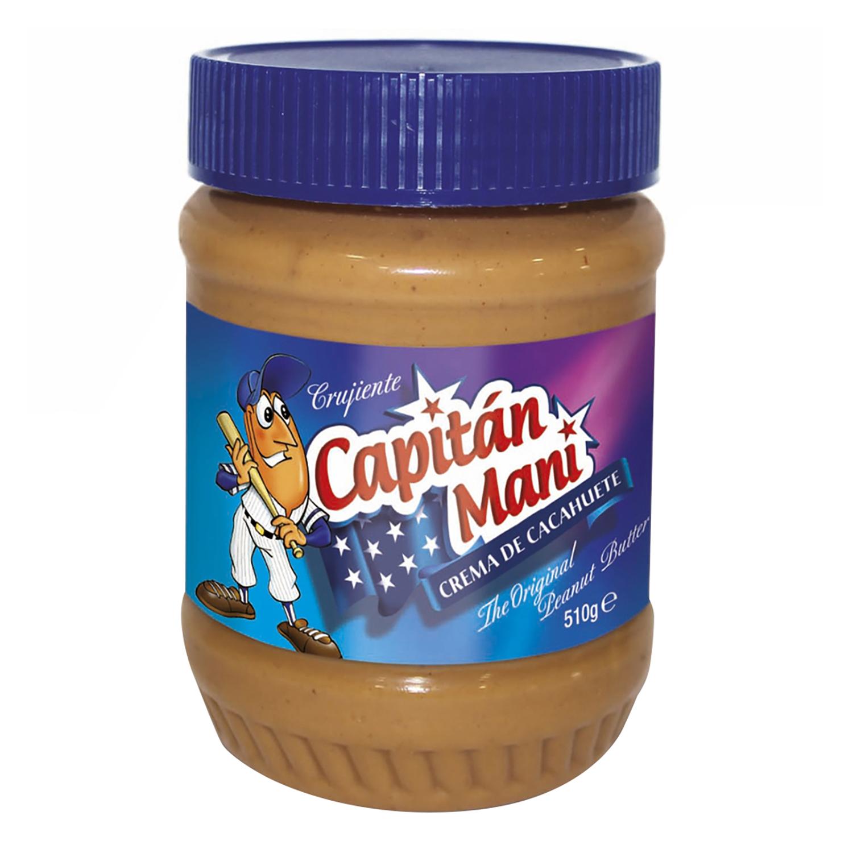 Crema de cacahuete crujiente Capitán Maní 510 g.
