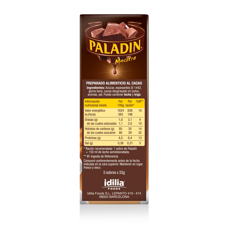 Chcolate a la taza en polvo Paladin 165 g. -