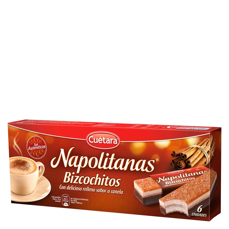 Bizcocho napolitanas Cuétara 6 ud.