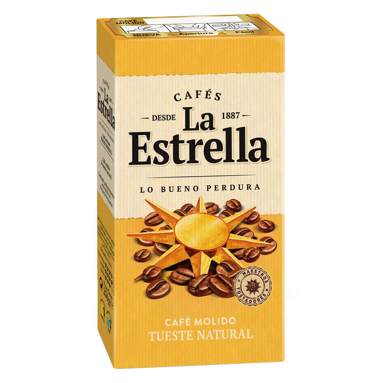 Café molido natural La Estrella 250 g.