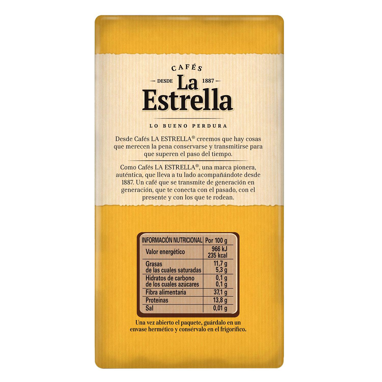 Café molido natural La Estrella 250 g. -