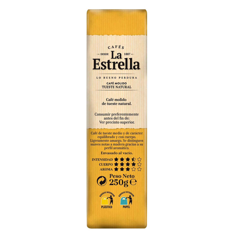 Café molido natural La Estrella 250 g. - 2