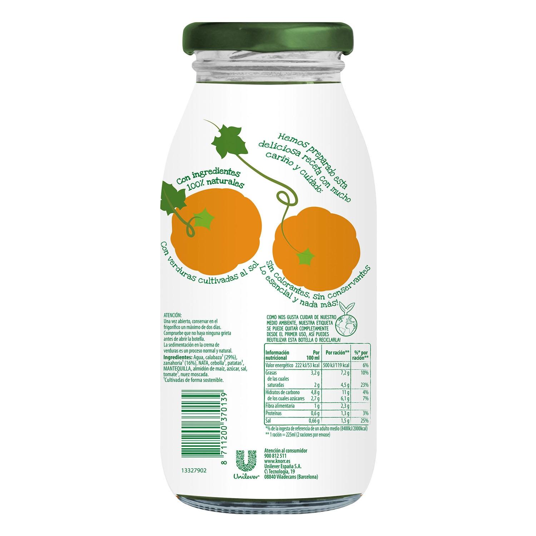 Crema de calabaza con nuez moscada Knorr 450 ml. -
