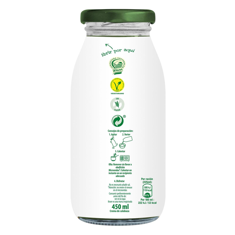 Crema de calabaza con nuez moscada Knorr 450 ml. - 2