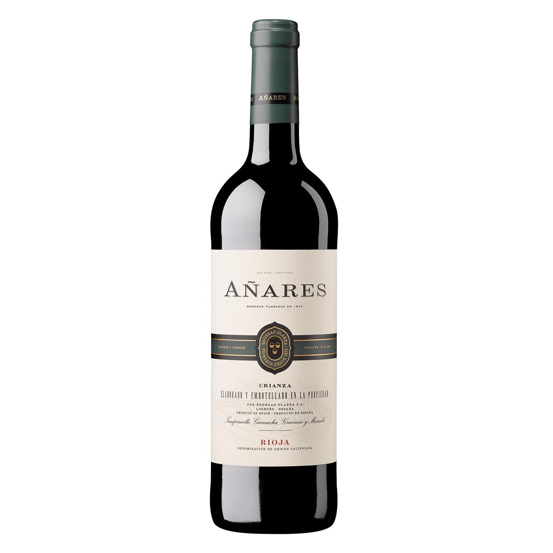 Vino D.O. Rioja tinto crianza Añares 75 cl.