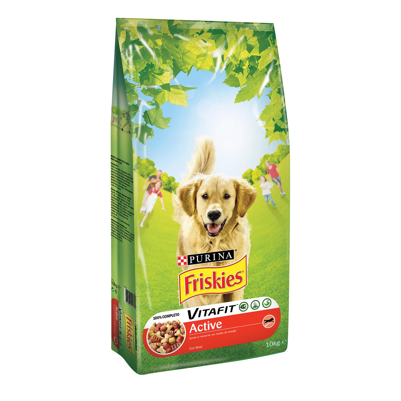 Purina Friskies Vitafit Active Pienso para Perro Adulto Buey 10Kg