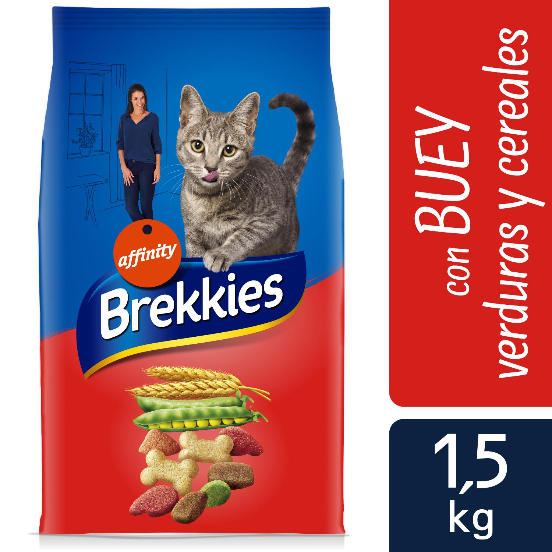 Brekkies Pienso para Gato  Adultos ternera 1,5 kg