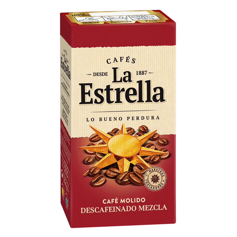 Café molido mezcla descafeinado La Estrella 250 g.
