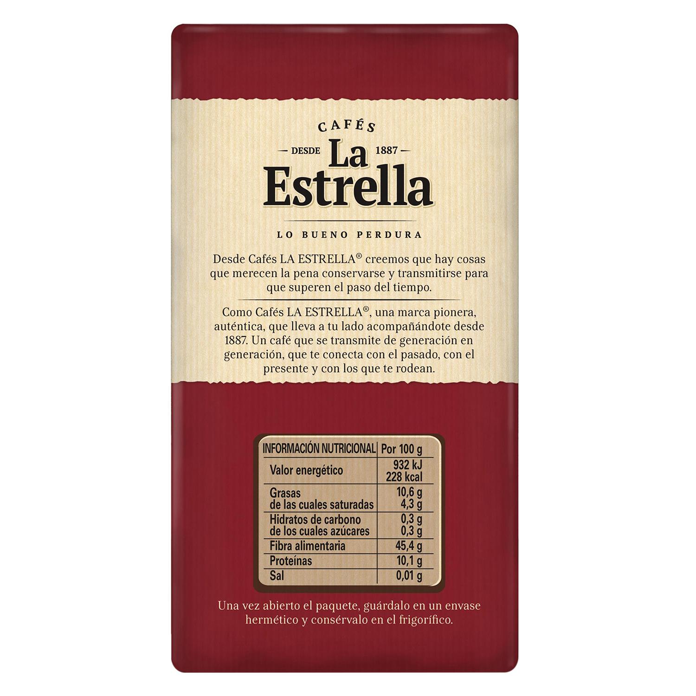 Café molido mezcla descafeinado La Estrella 250 g. -