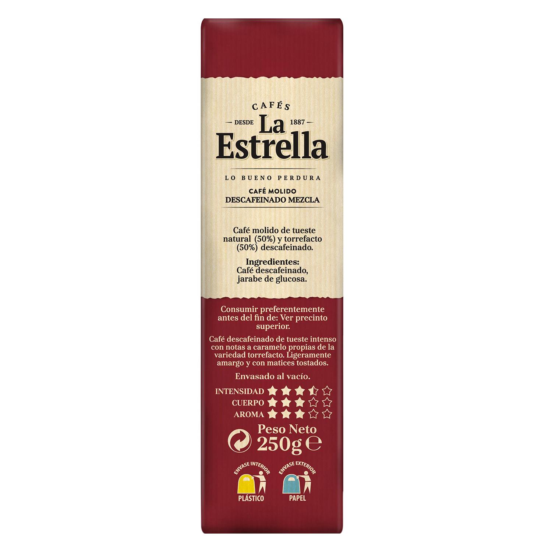 Café molido mezcla descafeinado La Estrella 250 g. - 2