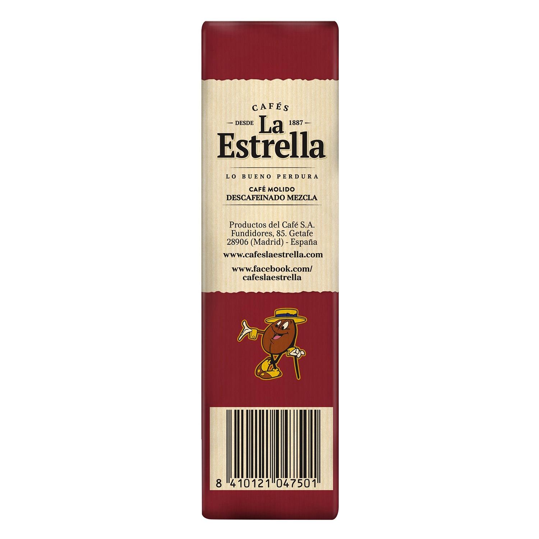Café molido mezcla descafeinado La Estrella 250 g. - 3