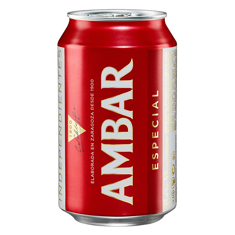 Cerveza Ambar Lager especial lata 33 cl.