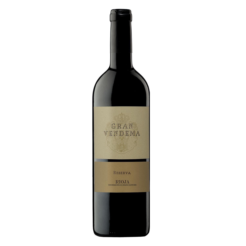 Vino D.O. Rioja tinto reserva Gran Vendema 75 cl.