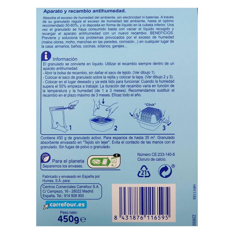 Antihumedad aroma neutro aparato y recambio Carrefour 1 ud. -