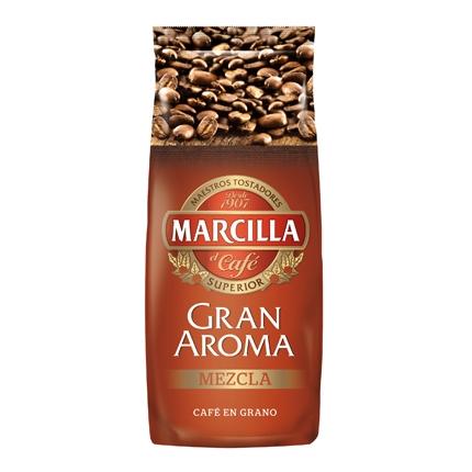 Café grano mezcla gran aroma Marcilla 1 kg.