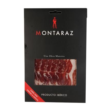 Jamon ibérico lonchas Montaraz 100 g.