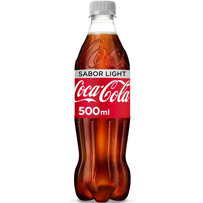 Refresco de cola Coca Cola light botella 50 cl.