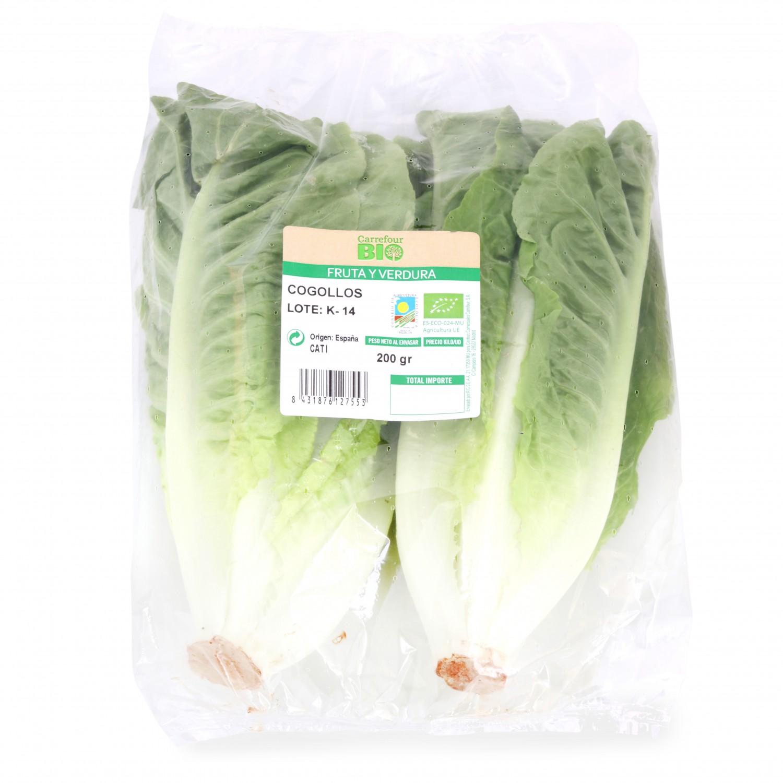 Cogollos de lechuga ecológicos Carrefour Bio bolsa 2 pz - 2