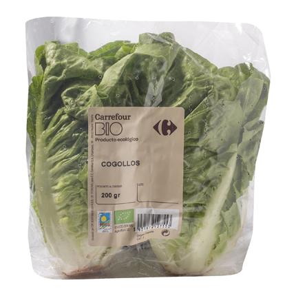 Cogollos de lechuga ecológicos Carrefour Bio bolsa 2 pz -