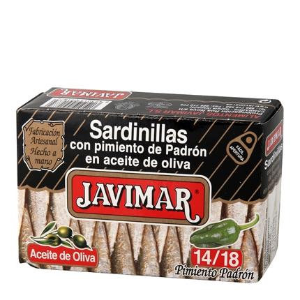 Sardinillas con pimiento de padrón en aceite de oliva 14/18