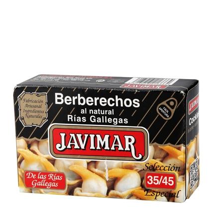 Berberechos natural 35/45 piezas Javimar 65 g.