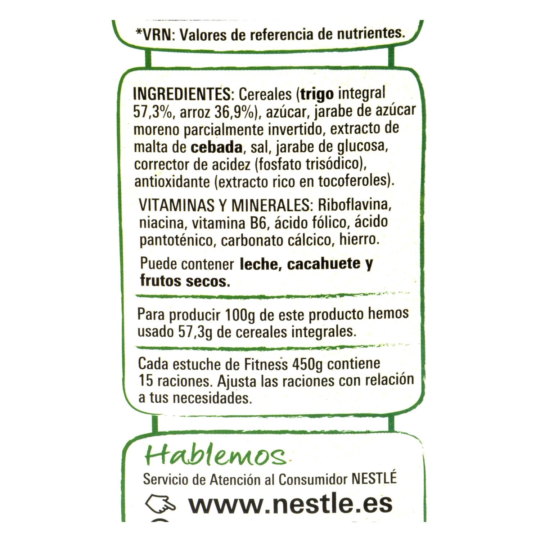 Cereales integrales Fitness Nestlé 450 g. - 2