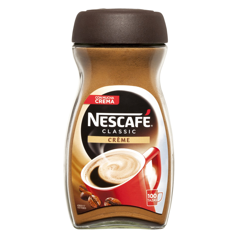 Café soluble natural con crema