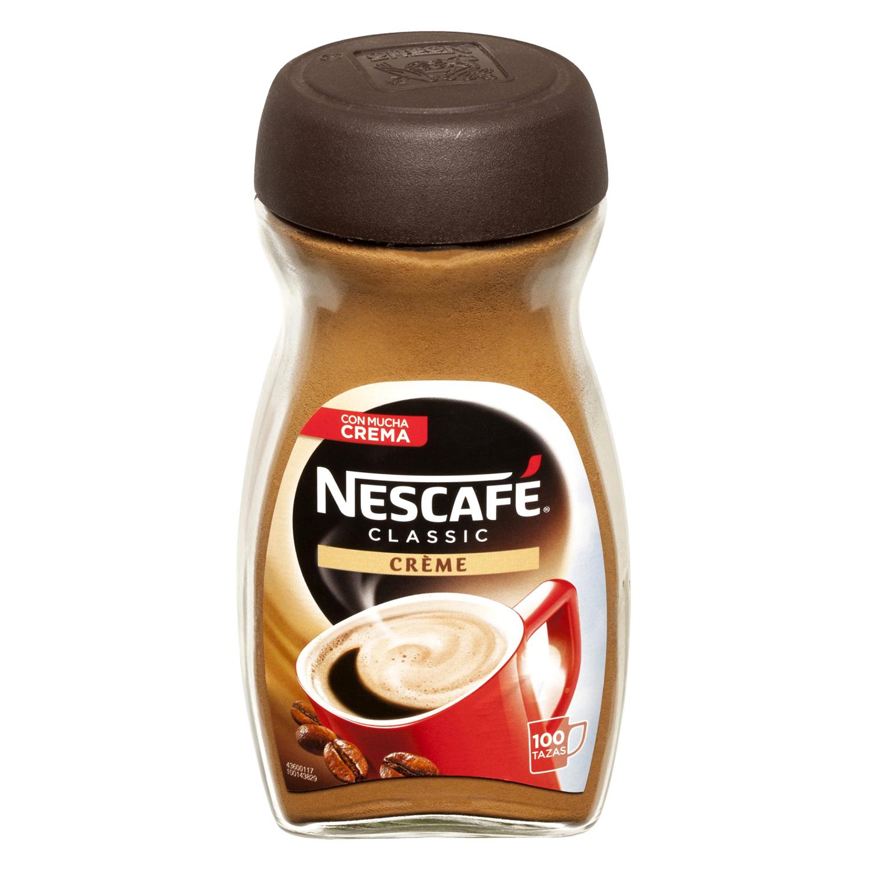 Café soluble natural con crema -
