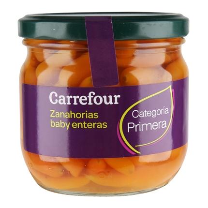 Zanahorias baby enteras Carrefour 215 g.