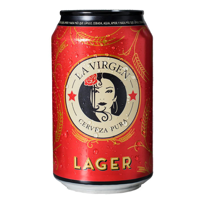 Cerveza La Virgen Lager lata 33 cl.