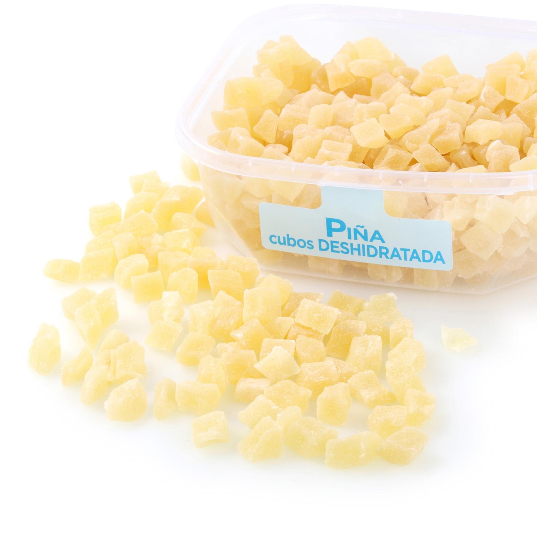 Piña en cubos deshidratada tarrina 350 g