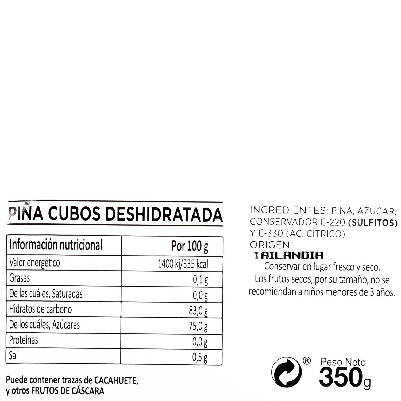 Piña en cubos deshidratada tarrina 350 g - 3