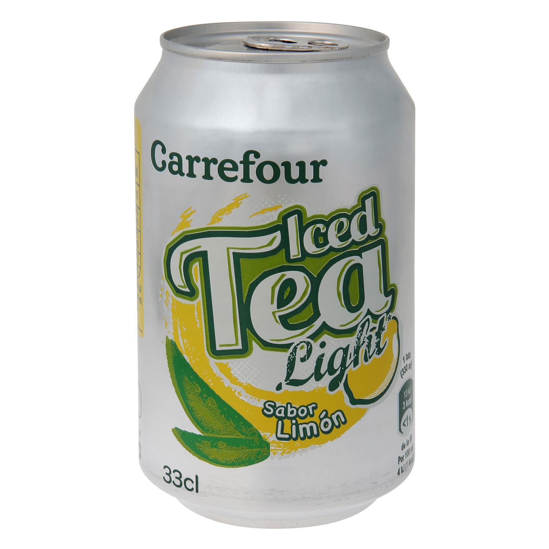 Refresco de té Carrefour light sabor limón lata 33 cl.
