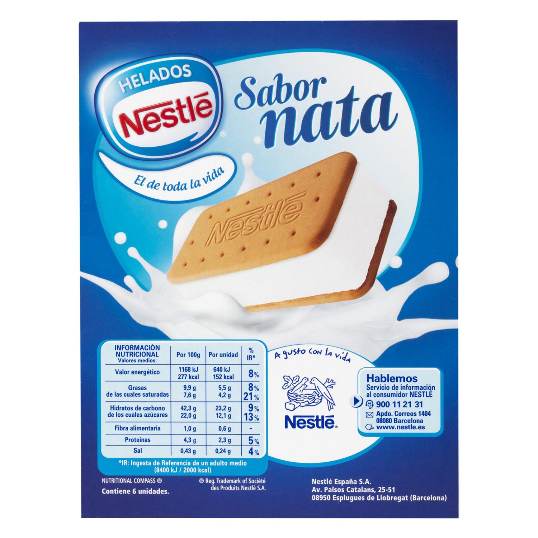 Sandwich de nata Nestlé Helados 6 ud. - 2