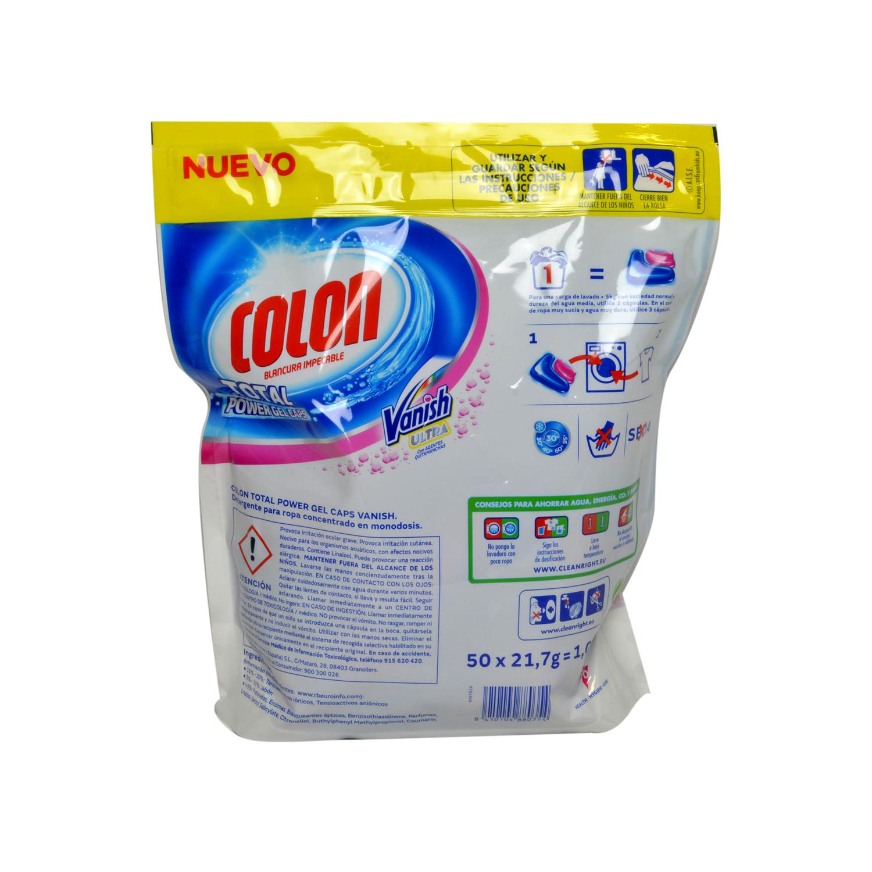 Detergente en cápsulas Vanish Ultra Colon 50 ud. -