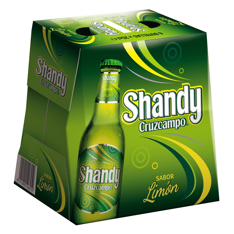 Cerveza Cruzcampo Shandy con limón pack de 6 botellas de 25 cl.