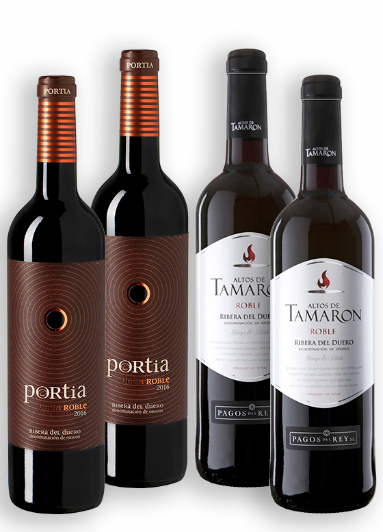Portia Roble + Altos de Tamarón Roble