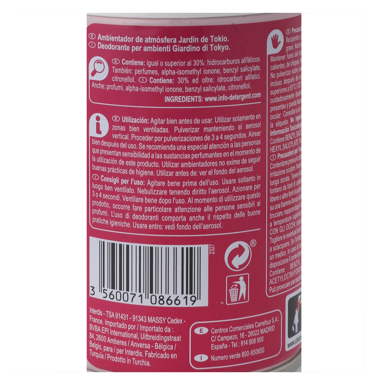 Ambientador spray Tokyo Carrefour 250 ml. -