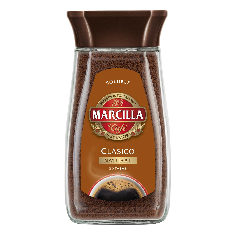 Café soluble natural clásico Marcilla 100 g.