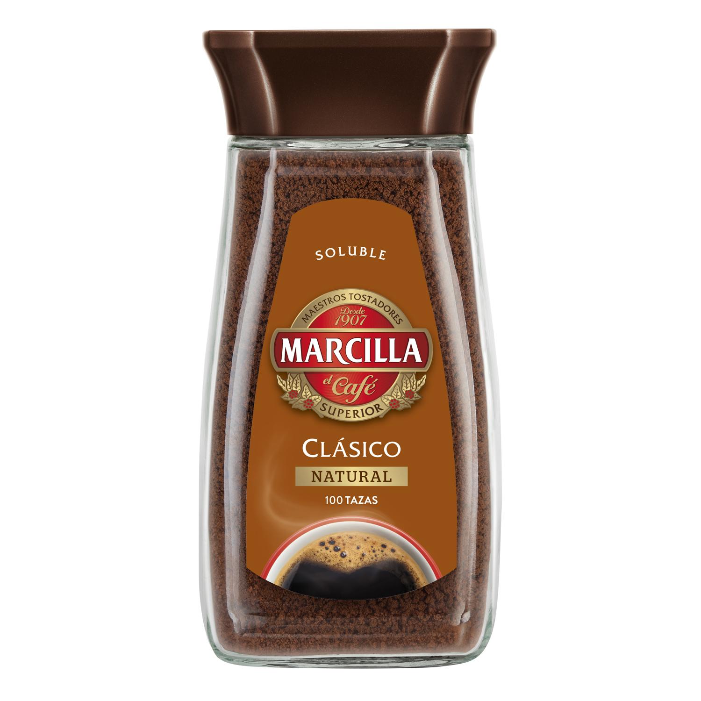Café soluble natural clásico Marcilla 200 g.