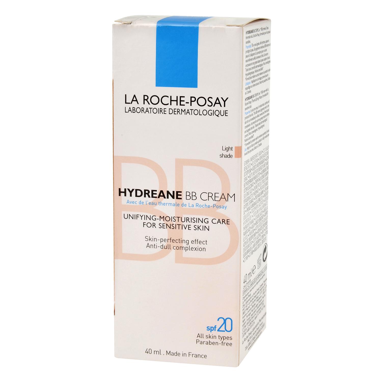 Crema BB Hydreane tono claro para pieles sensibles La Roche-Posay 40 ml.