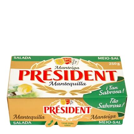 Mantequilla Président con sal 250 g.