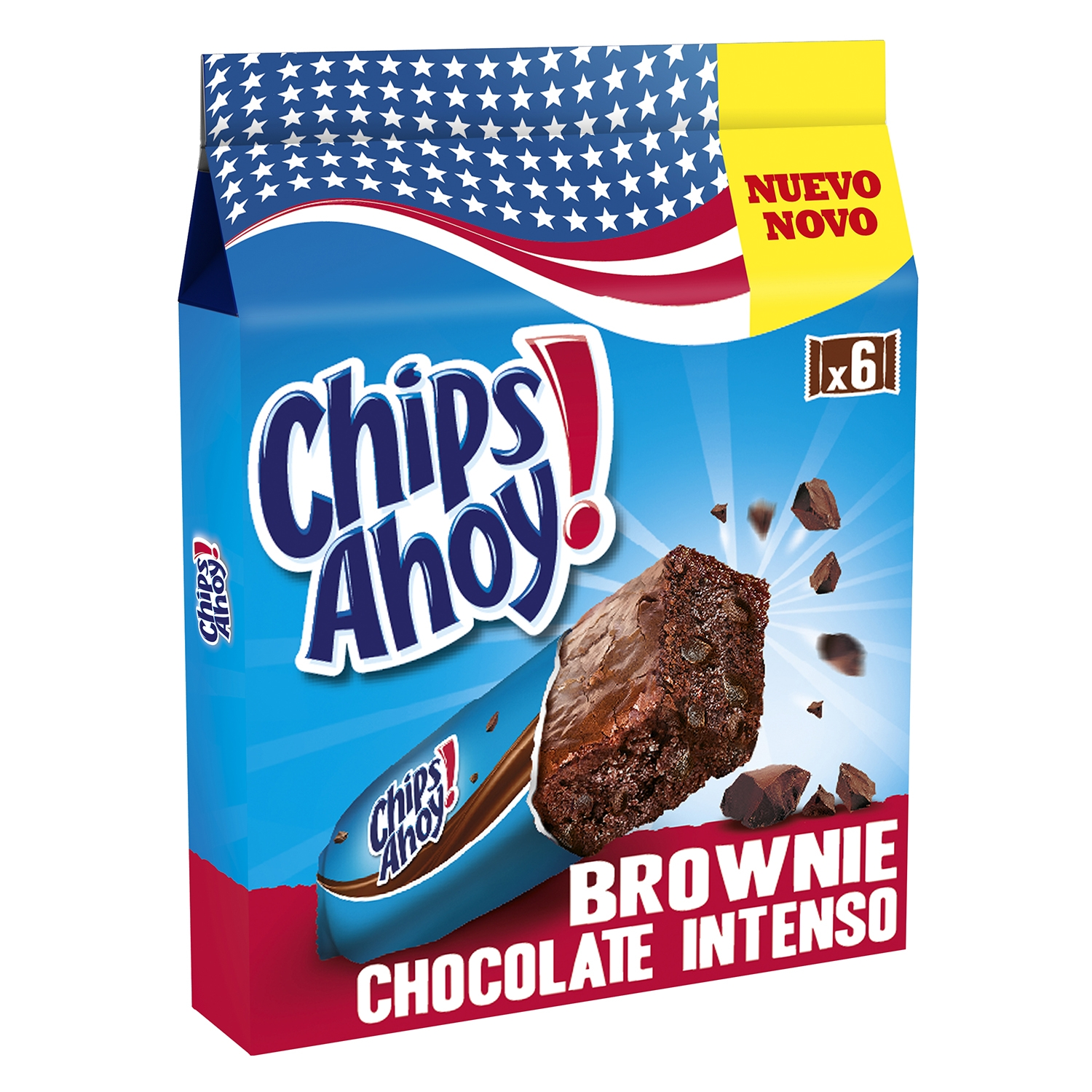 Brownie de chocolate intenso Chips Ahoy 150 g.