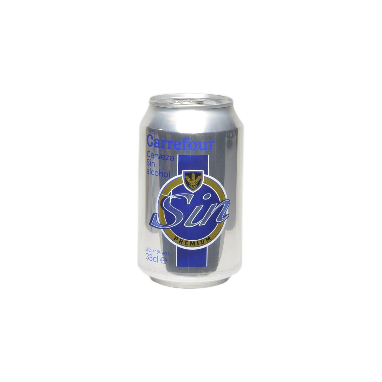 Cerveza Carrefour sin alcohol lata 33 cl.