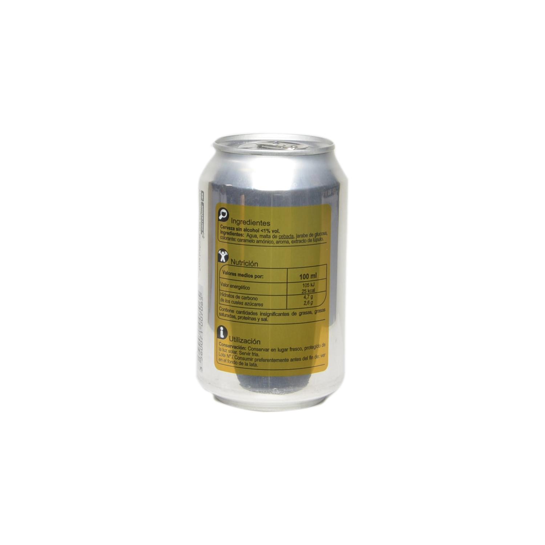 Cerveza Carrefour sin alcohol lata 33 cl. -