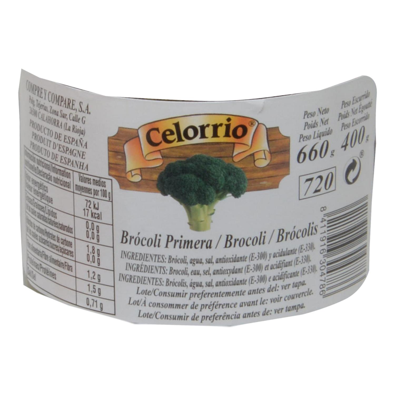 Brócoli primera en tarro Celorrio 400 g. - 2