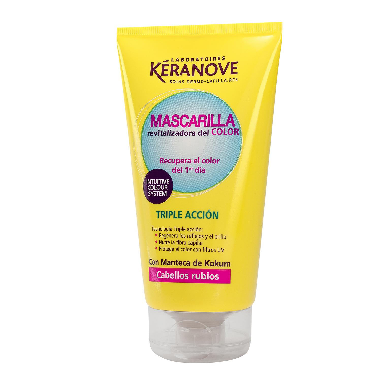 Mascarilla capilar revitalizadora del color para cabello rubio Keranove 150 ml.